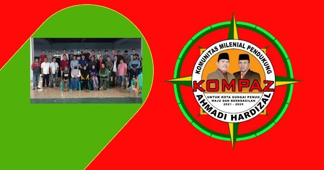 Tergabung Dalam KOMPAZ, Millenial Satukan Tekad Menangkan Ahmadi - Hardizal di Pilwako Sungai Penuh