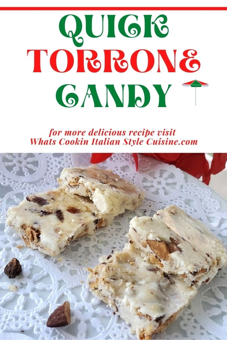 this is a recipe for Torrone candy pin for later instructions