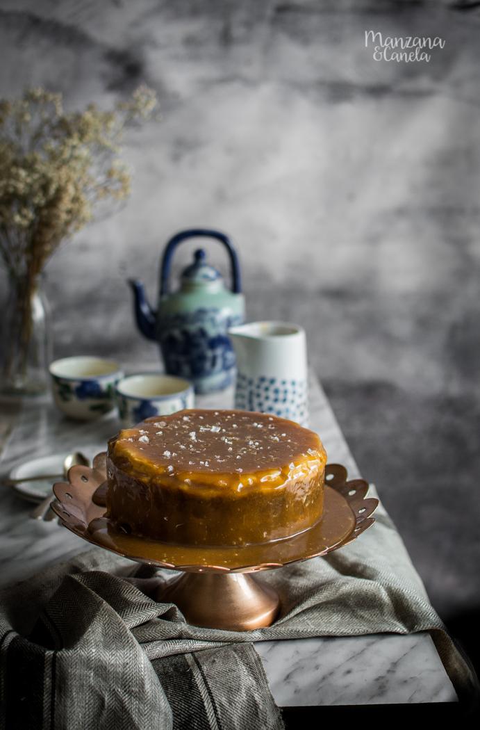 Cheesecake de caramelo salado. Receta con olla rápida