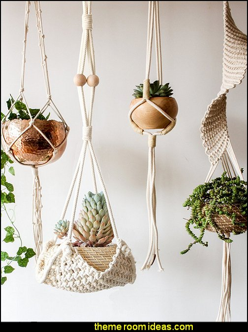 Macrame Plant Hanger Handmade Cotton Rope Wall Hangings Home Decor   Boho Style Decorating - Boho decor - Bohemian bedding - boho chic decor - boho theme decorating ideas - boho gypsy decorating style - Bohemian theme decorating ideas - bohemian chic bedroom - Gypsy style Boho Boutique