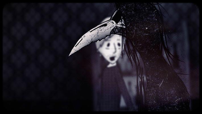 DEL AMOR A LA MUERTE, secuencia del episodio dedicado a El Cuervo narrado por Joan Mora