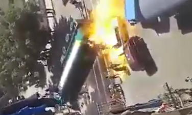 Pipa quema a varias personas al Estallar