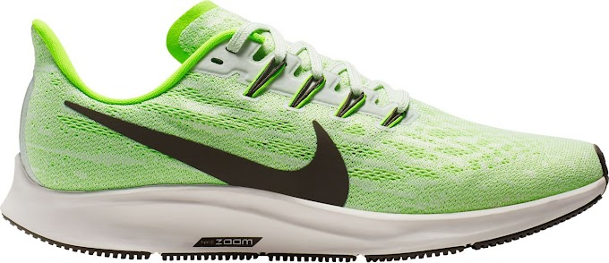 Nike Men's Air Zoom Pegasus 36 Running Shoes - Phantom Ridgerock Electric Green