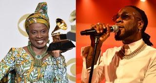Legendary singer Angelique Kidjo Grammy award, dedicates award to Burna Boy