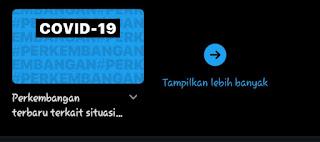 Twitter page event cirus corona Indonesia