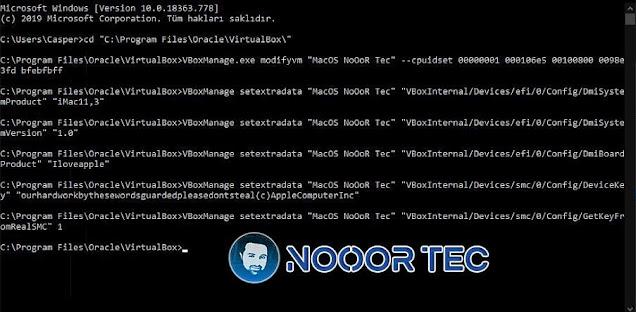 برنامج virtualbox لتنصيب ماك على ويندوز -الخطوة 3