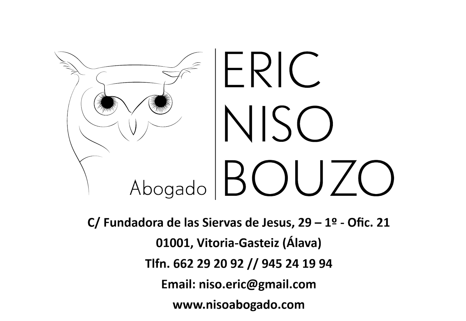 ⊛【Eric Niso Bouzo - Abogado en Vitoria-Gasteiz】⊛