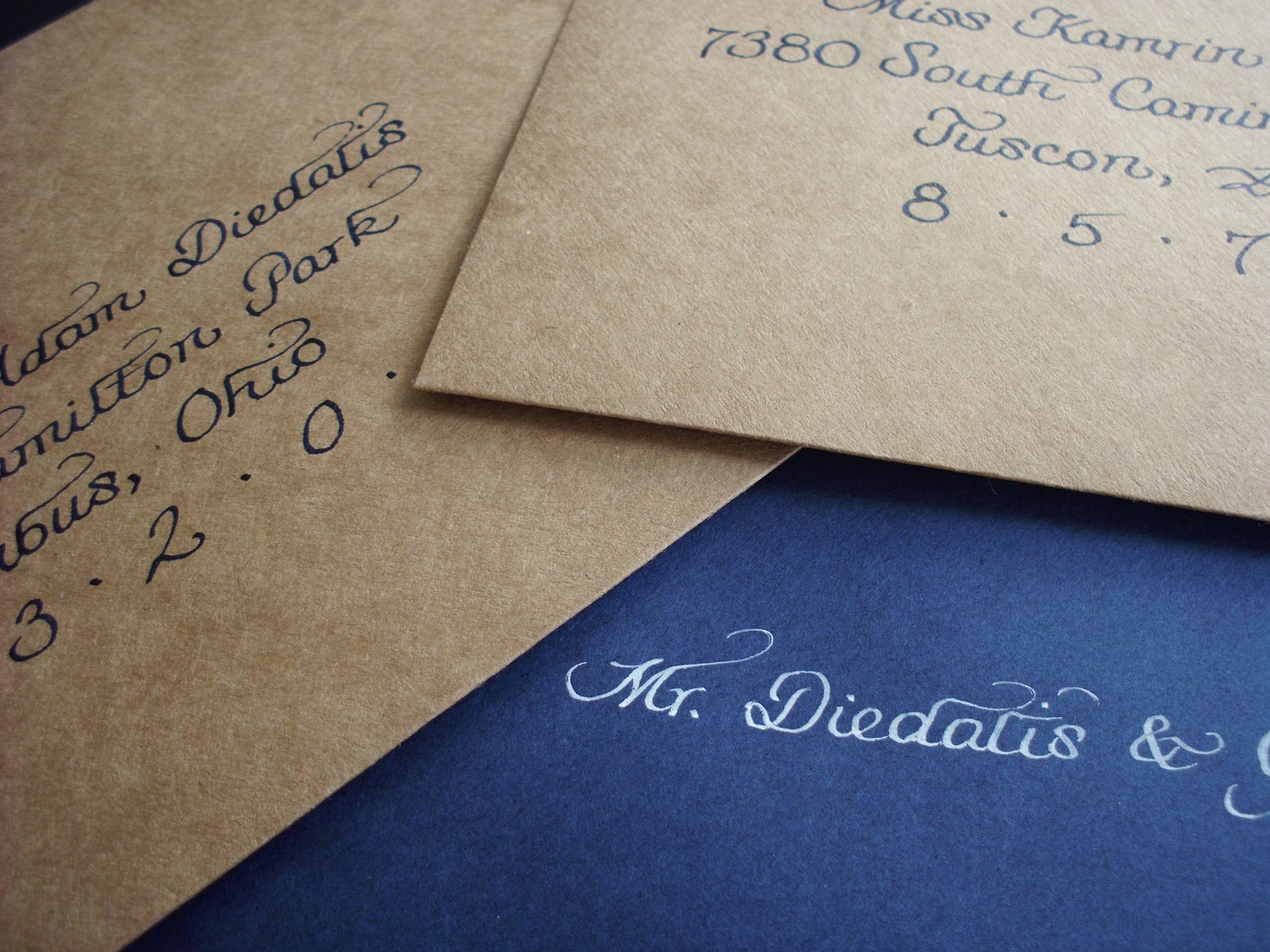 What Are Inner Envelopes For Wedding Invitations: From The Ash Tree Meadow...: Calligraphy Addressing