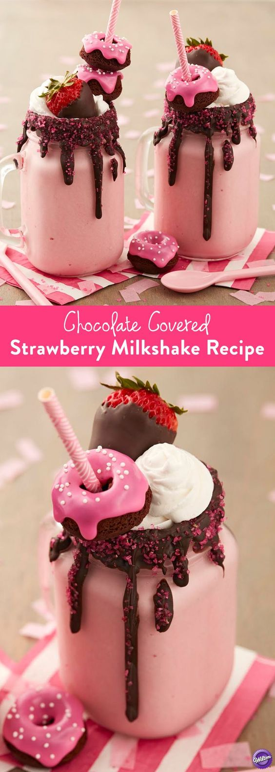 CHOCOLATE COVERED STRAWBERRY MILKSHAKES RECIPE