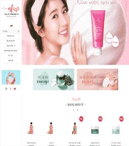 Giao diện Blogspot bán hàng Mỹ phẩm Nalu Cosmetic
