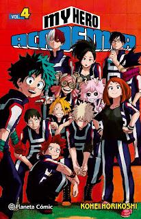 "Reseña de ""My Hero Academia"" (僕のヒーローアカデミア) vol.4 de Kōhei Horikoshi"