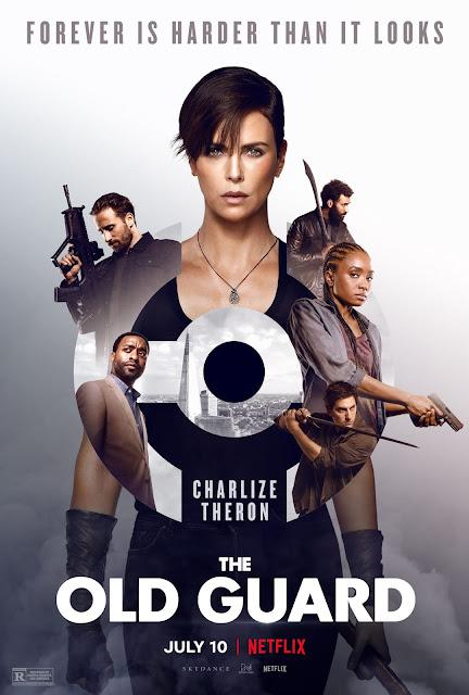 Marwan Kenzari, Matthias Schoenaerts, Charlize Theron, Luca Marinelli e Kiki Layne the old guard netflix poster