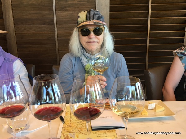 blogger Carole Terwilliger Meyers tasting at Gary Farrell Vineyards & Winery in Healdsburg, California