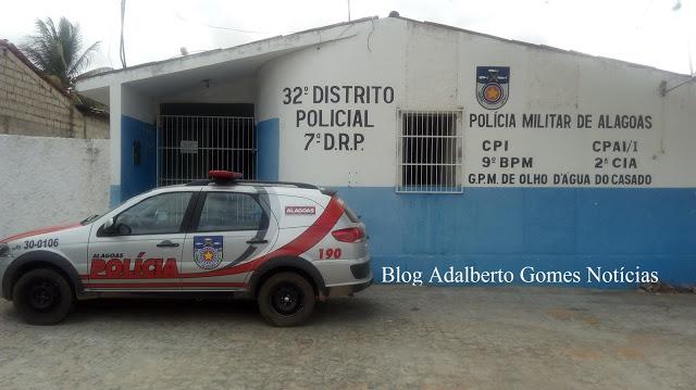 Em Olho D'Água do  Casado, acusado de cometer homicídio é preso pela polícia