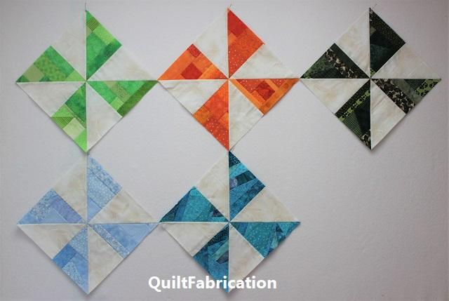 pinwheel quilt blocks set on point for RSC2020