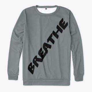 Breathe All-over Print Sweatshirt Grey