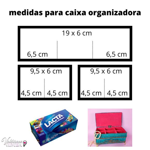 molde grátis para caixa organizadora