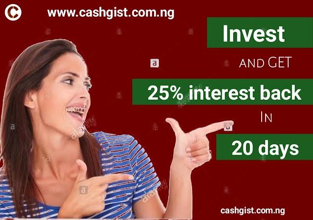 Cashgist investment