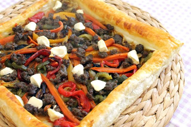 Hojaldre fácil de verduras y ternera