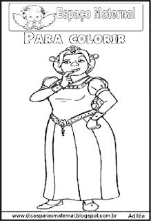 Desenho de Fiona  para colorir