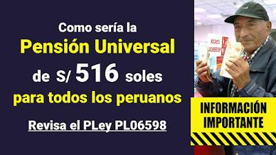 Como sería la pensión universal de 516 soles para todos los peruanos Revisa el PLey