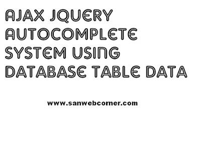 ajax jquery autocomplete