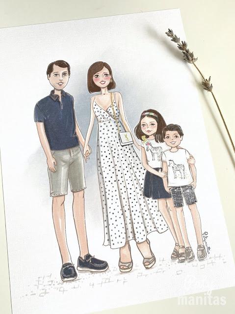 ilustración familia