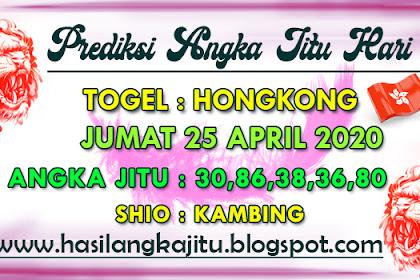 Prediksi Angka Jitu Togel Hongkong Sabtu 25 April 2020