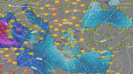 Τοπικές βροχές και καταιγίδες στα δυτικά και βορειοδυτικά της χώρας - Νέα άνοδος της θερμοκρασίας ως προς τις μέγιστες τιμές