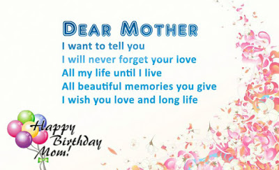 Happy Birthday, Mom, I love you.