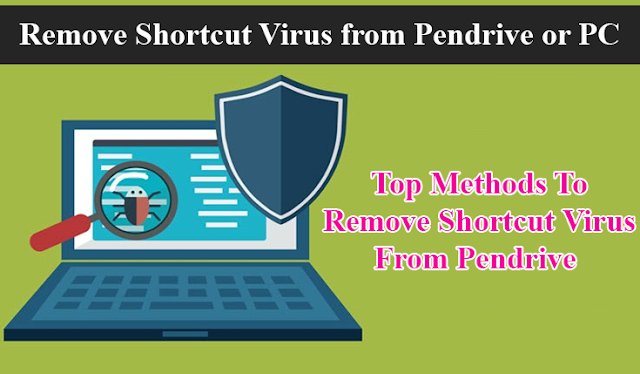 How to Remove shortcut virus permanently from PC, Pendrive and Laptop Computer 1