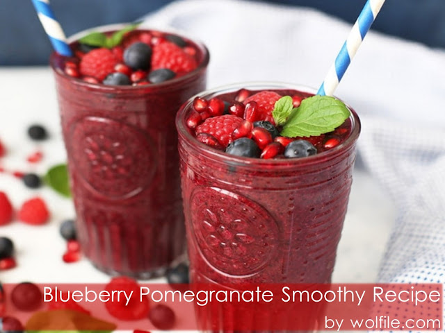 Blueberry Pomegranate Smoothy Recipe #smoothie #drink