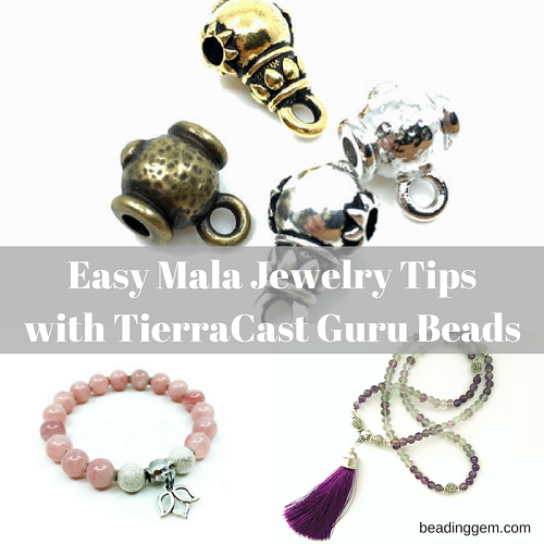 9df296b9f Easy Mala Necklace and Bracelet with TierraCast's Guru Beads | Tips and  Tricks to Stringing and Knotting - The Beading Gem's Journal