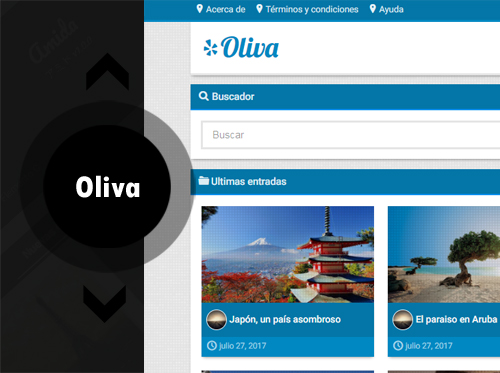 Oliva – plantilla personal blog responsive, blogger