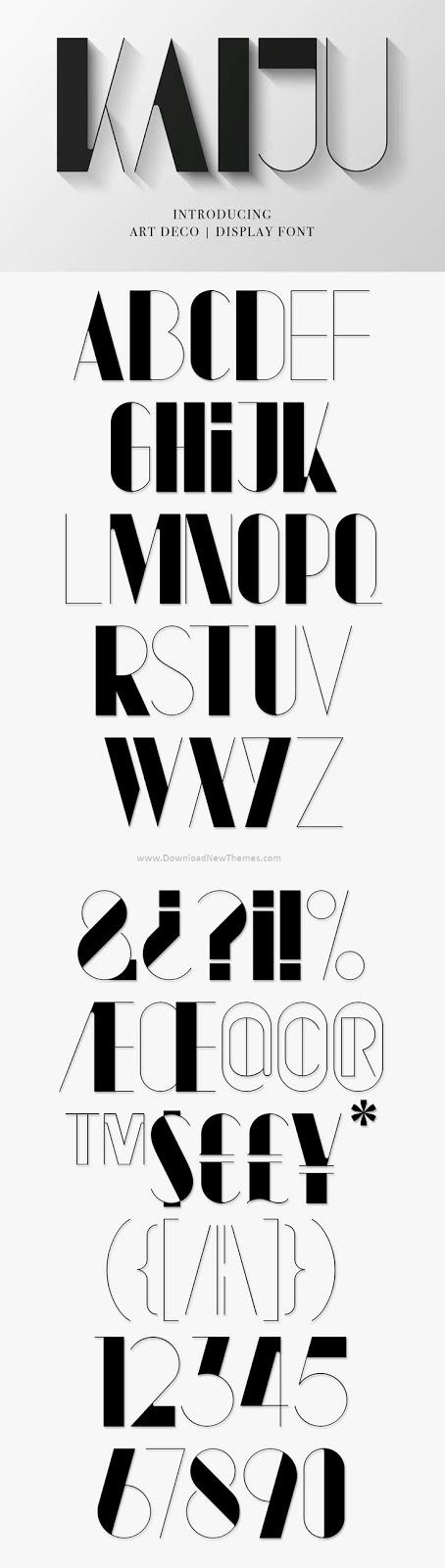 Free Modern Art Deco Typeface Font
