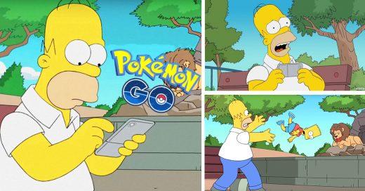 La app Pokémon GO llega a Los Simpson y ellos se burlan
