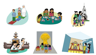 Gamabar cara setiap agama beribadah www.simplenews.me