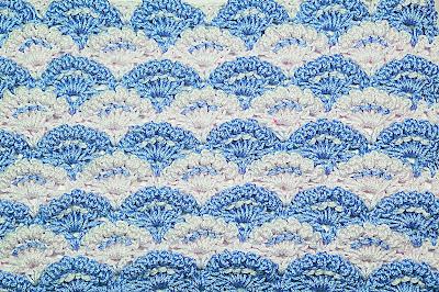 6 - Crochet Imagen Puntada a crochet de abanicos a relieve por Majovel Crochet