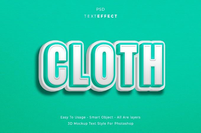 Cloth Text Effect PSD
