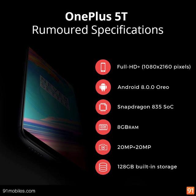 Bocoran Spesifikasi OnePlus 5T