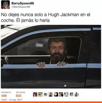 No dejes nunca solo a Hugh Jackman en el coche, él jamás lo haría,