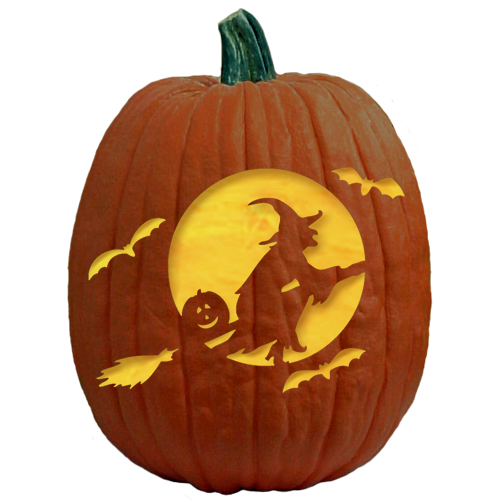 Freesensenews 8 free easy scary halloween pumpkin templates for Witch carving pattern for pumpkins