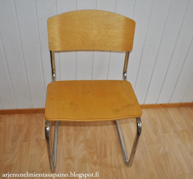 tuoli, ennen, maalaus, väri