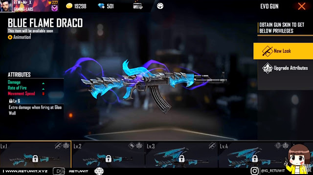level Up Blue Flame Draco