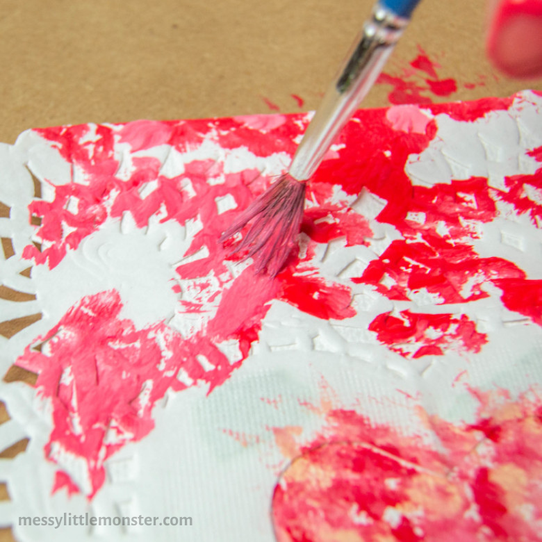 paper doily painting craft