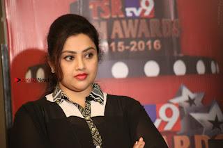 Tamil Actress Meena Latest Stills in Black Dress at TSR TV9 Awards Press Meet  0182.JPG
