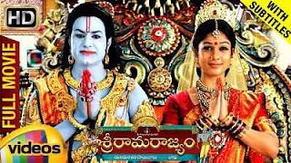 Sri Rama Rajyam (2011) Hindi - Telugu Download 600mb Dual Audio BluRay 480p