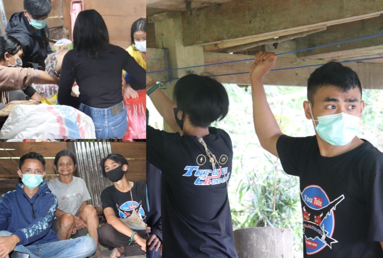 Toraja Chanel Berikan Bantuan Kepada 3 Penyandang Disabilitas Di Makale Selatan