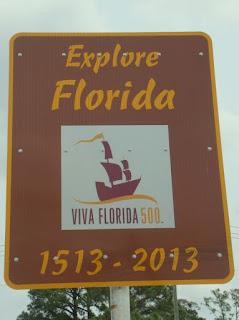 Placa conmemorativa por el V Centenario de la Florida
