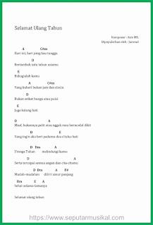 chord lagu selamat ulang tahun band jamrud
